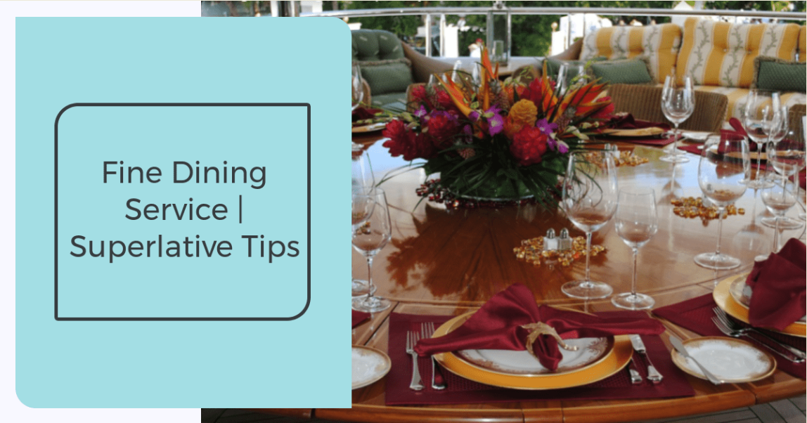 An image fine dining service table setup