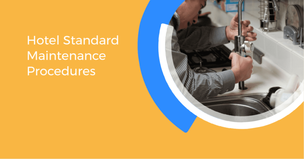 An image of maintainance technician fixing a tap - hotel standard maintenance procedure