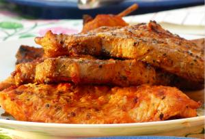 An image of grilled honey glazed tuna