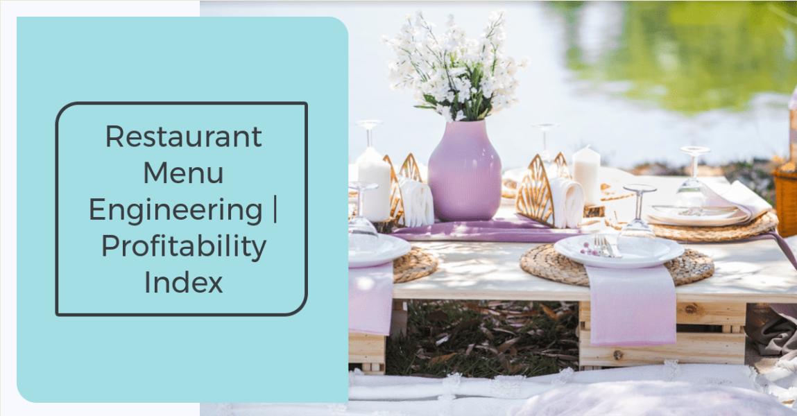 An image showing table setup - restaurant menu engineering