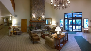 An image of a hotel bell desk at the lobby