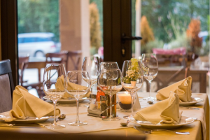 An image of a restaurant table setup