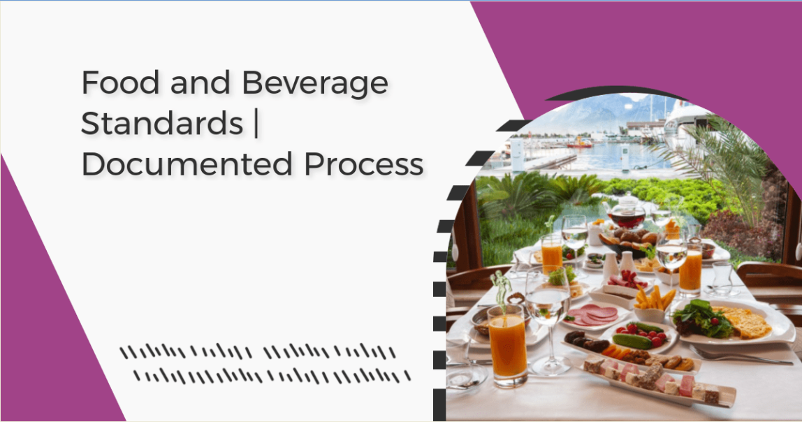 An image of table setup - Food and Beverage Standards