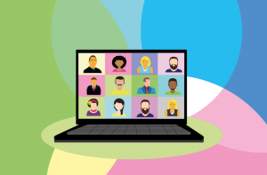 An image showing Virtual Work - Pandemic Work Reality
